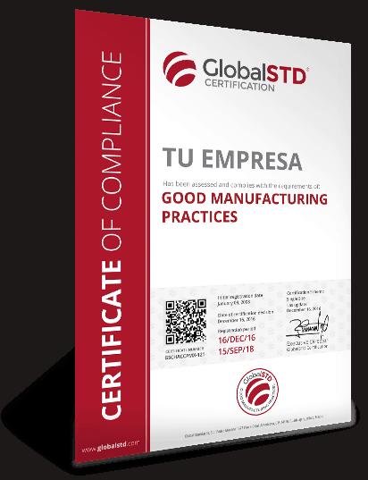 certificado cumplimiento buenas practicas de manufactura