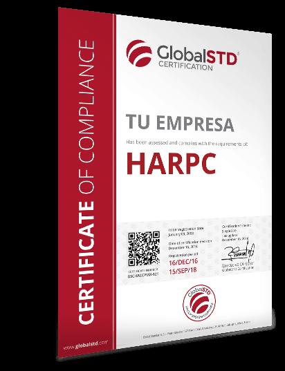 certificado de cumplimiento HARPC