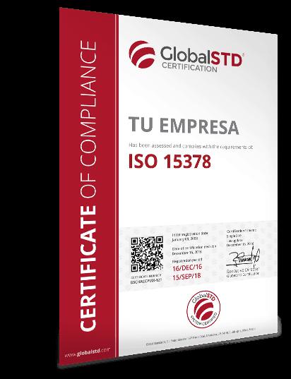 certificado ISO 15378